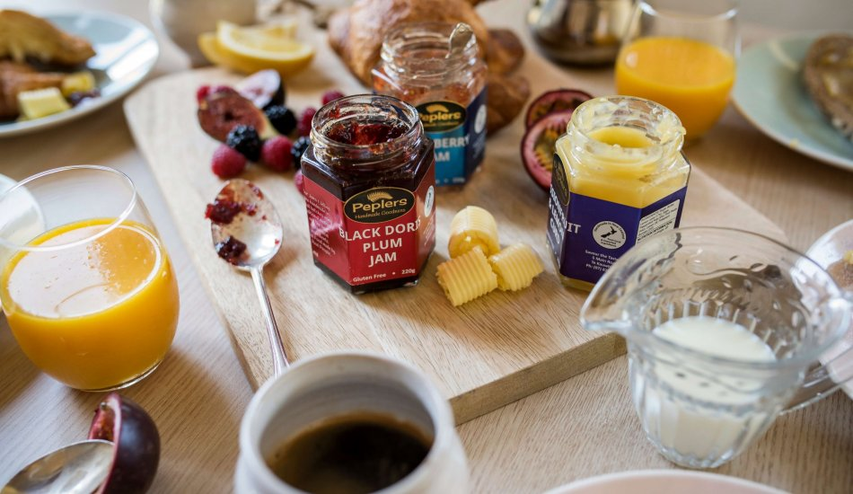 Peplers Fine Foods New Zealand hand make Vinaigrettes and Drizzle to good old fashioned Jam and Jelly, and with a nice cheese our Chutneys and Savoury Jellies are fantastic.